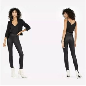 Express High Rise Faux Leather Leggings Spandex
